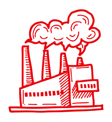 Icona della sezione industria dei prodotti Well